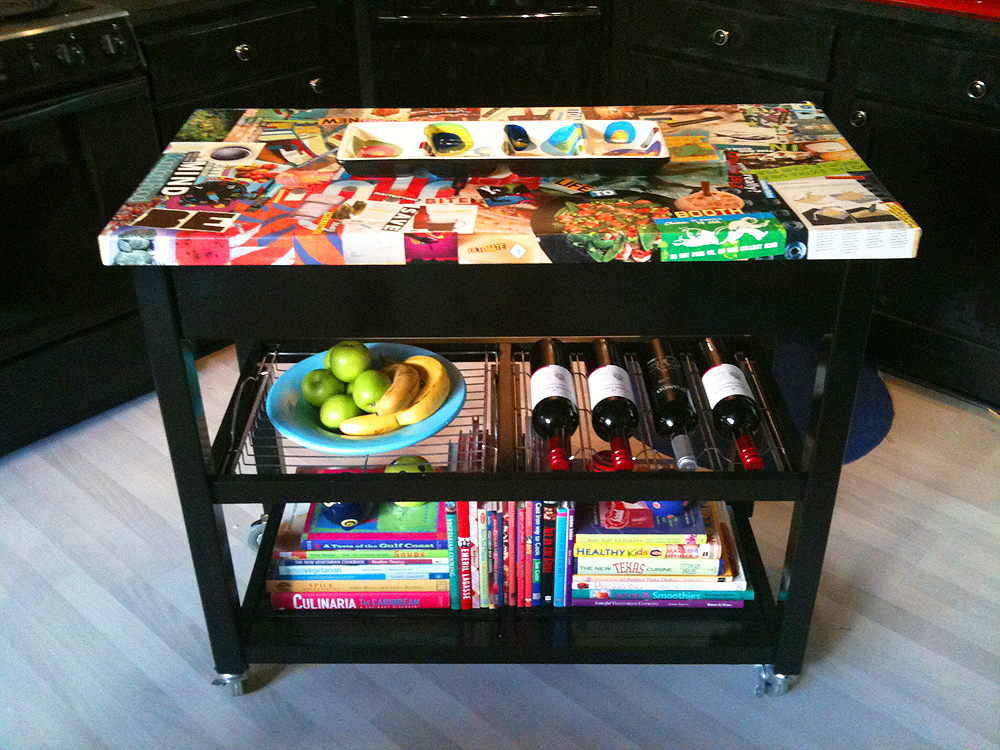 Kitchen Island Makeover Fun Art Altered Artistic Wine